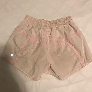 pink lululemon shorts!!